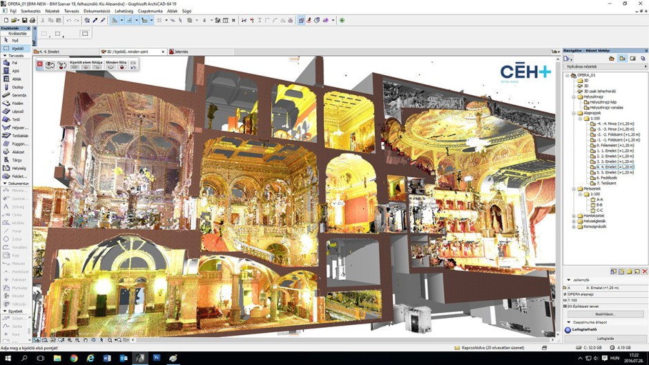 ceh opera case study point cloud with ACmodel